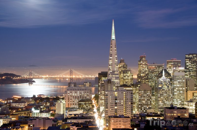 Fotka, Foto San Francisco, v noci (USA)