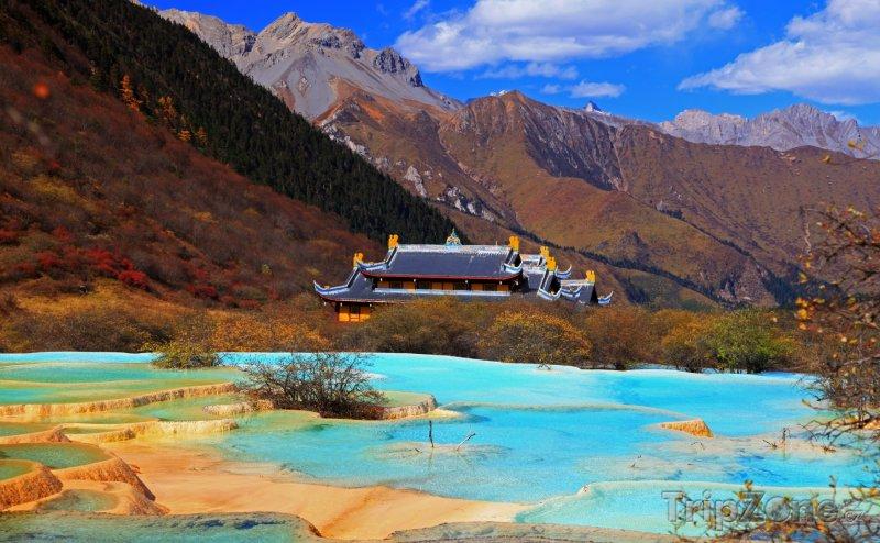 Fotka, Foto Sečuán - Chuang-lung, kalcitové bazénky (Čína)