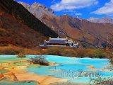 Sečuán - Chuang-lung, kalcitové bazénky
