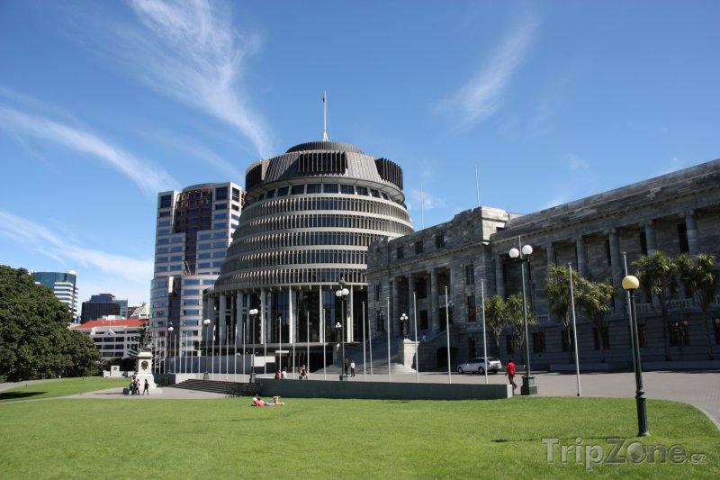 Fotka, Foto Sídlo vlády a parlamentu ve Wellingtonu (Nový Zéland)