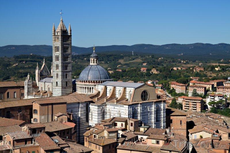 Fotka, Foto Siena, pohled na katedrálu (Itálie)