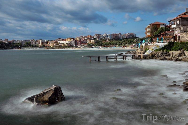 Fotka, Foto Sozopol, moře u pobřeží (Jižní pobřeží, Bulharsko)