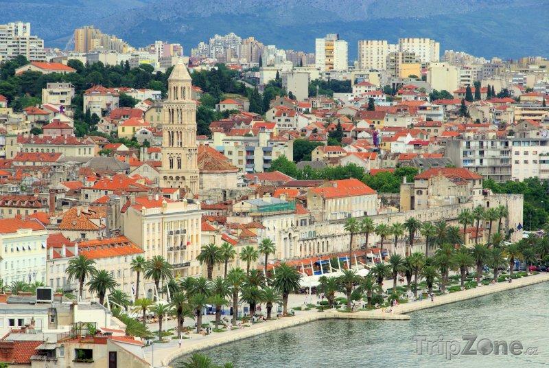 Fotka, Foto Split, přístav a zvonice katedrály (Chorvatsko)