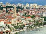 Split, přístav a zvonice katedrály