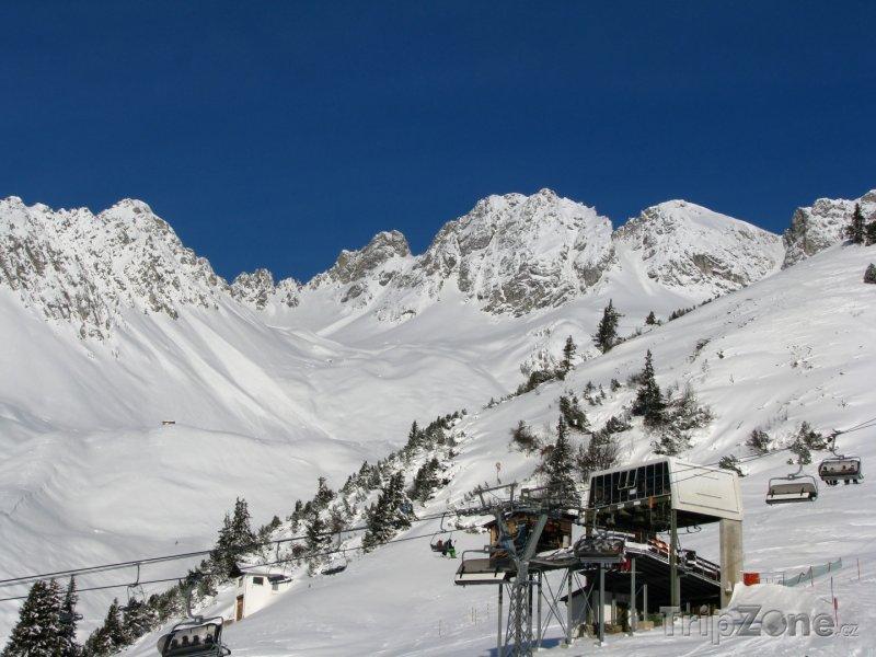 Fotka, Foto St. Anton, sedačková lanovka (Rakouské Alpy, Rakousko)