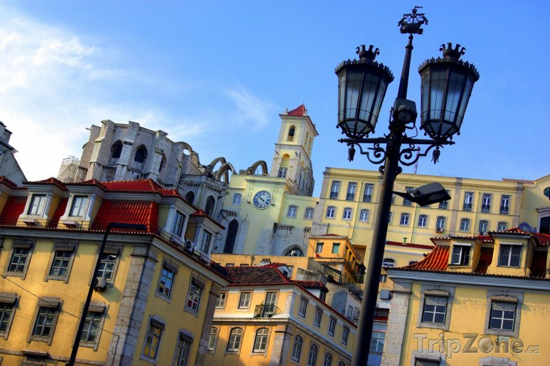 Fotka, Foto Staré domy v centru Lisabonu (Lisabon, Portugalsko)
