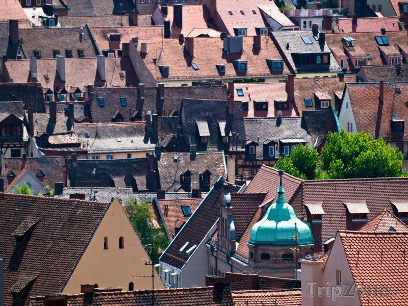 Fotka, Foto Střechy v Norimberku (Bavorsko, Německo)
