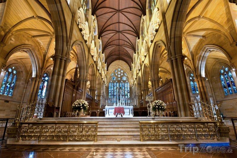 Fotka, Foto Sydney, vnitřek katedrály sv. Marie (Sydney, Austrálie)