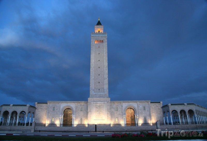 Fotka, Foto Tunis, mešita v noci (Tunisko)