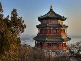 Typická čínská architektura poblíž Pekingu
