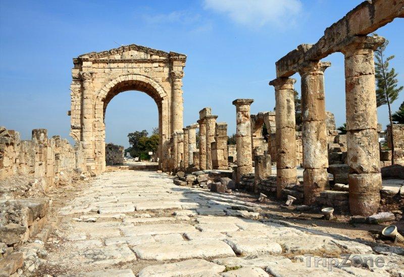Fotka, Foto Vítězný oblouk v Týrosu (Libanon)