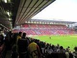 Vnitřek stadiónu Anfield