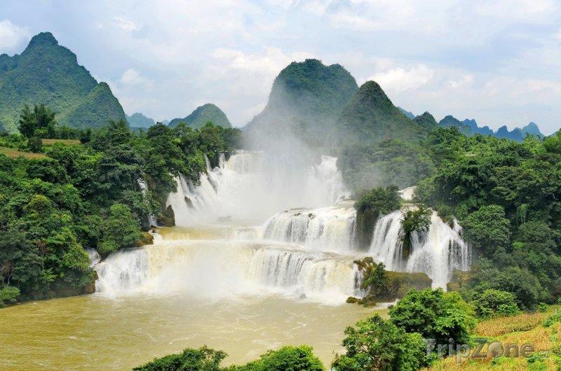 Fotka, Foto Vodopády Detian na vietnamsko-čínské hranici (Vietnam)