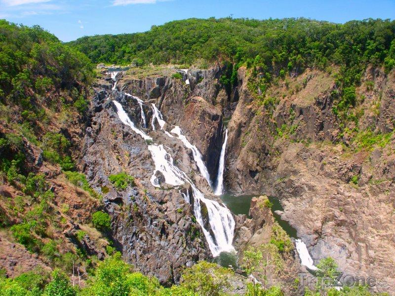 Fotka, Foto Vodopády v Národním parku Barron George (Austrálie)