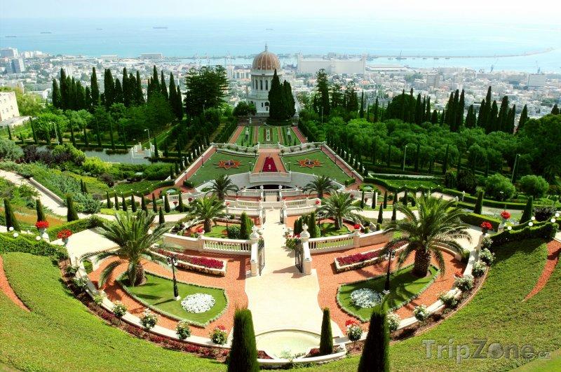 Fotka, Foto Zahrady Bahai ve městě Haifa (Izrael)