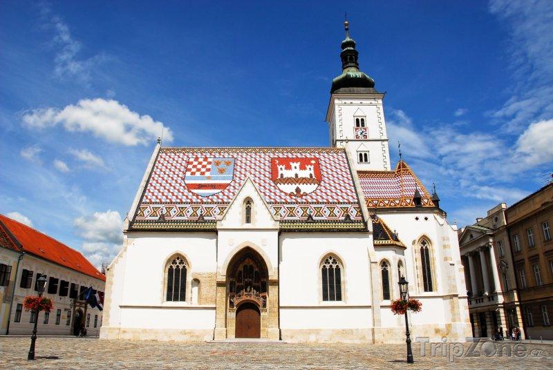 Fotka, Foto Záhřeb, kostel sv. Marka (Chorvatsko)
