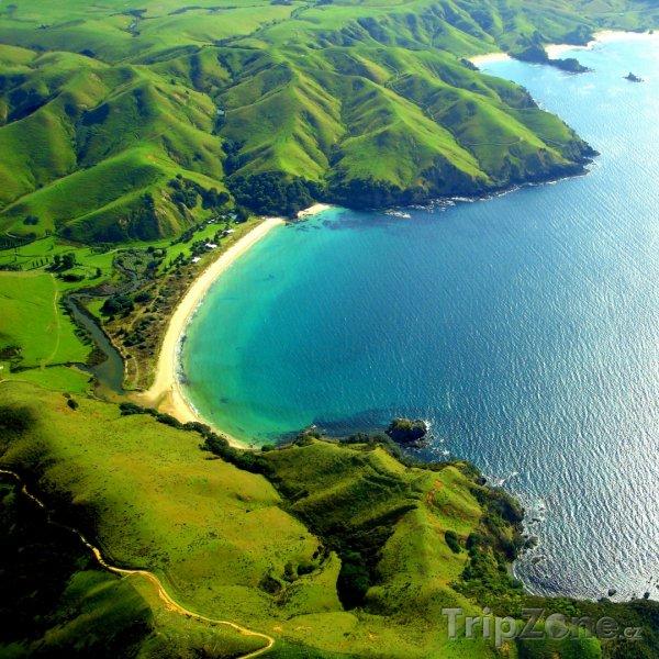 Fotka, Foto Záliv Taupo v regionu Waikato (Nový Zéland)