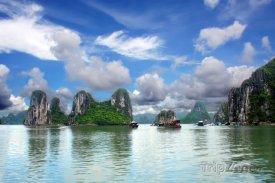 Zátoka Ha Long v provincii Quang Ninh