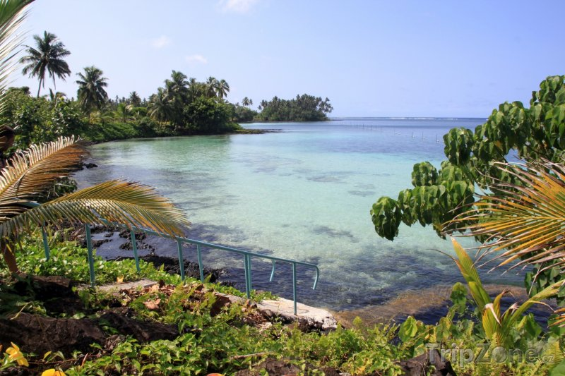 Fotka, Foto Zátoka v oblasti Aana na ostrově Upolu (Samoa)