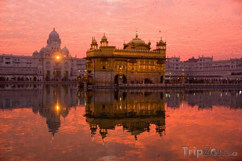 Fotka, Foto Zlatý Chrám ve městě Amritsar (stát Paňdžáb) (Indie)