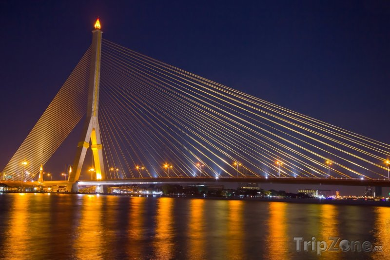 Fotka, Foto Bangkok - Bhumibol Bridge (Bangkok, Thajsko)