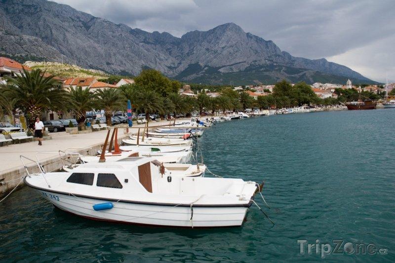 Fotka, Foto Baška Voda, přístav (Makarská riviéra, Chorvatsko)