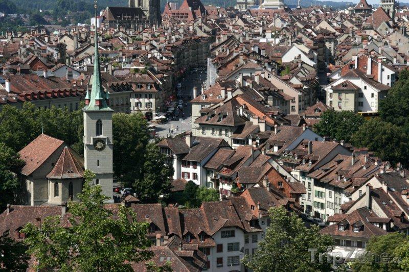 Fotka, Foto Bern - pohled na město (Švýcarsko)