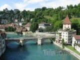 Bern - středověký most na řece Aare
