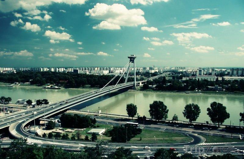 Fotka, Foto Bratislava a řeka Dunaj (Bratislava, Slovensko)