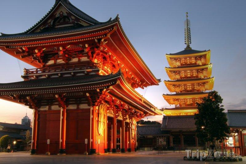 Fotka, Foto Budhistický chrám Sensoji (Tokio, Japonsko)