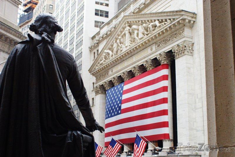 Fotka, Foto Budova burzy New York Stock Exchange (New York, USA)