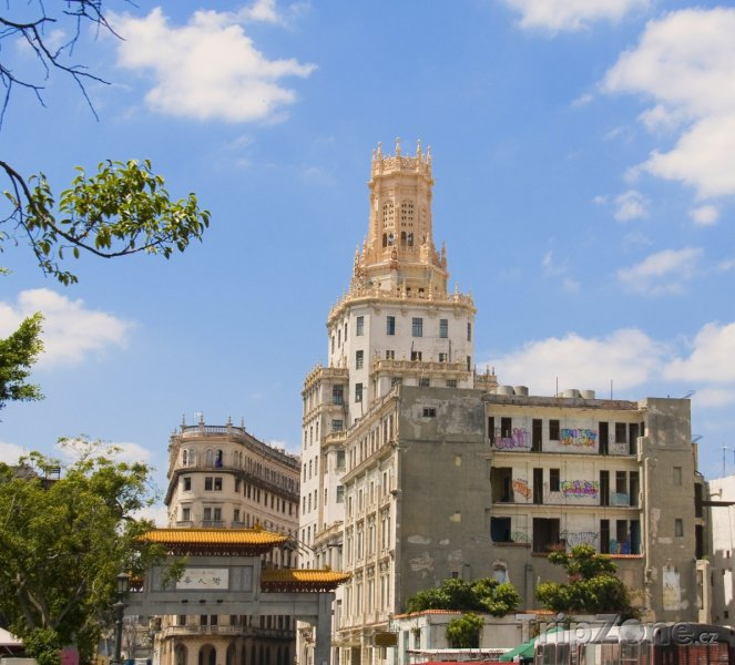 Fotka, Foto Budovy v Čínské čtvrti (Havana, Kuba)