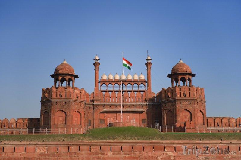 Fotka, Foto Červená Pevnost Red Fort (Nové Dillí, Indie)