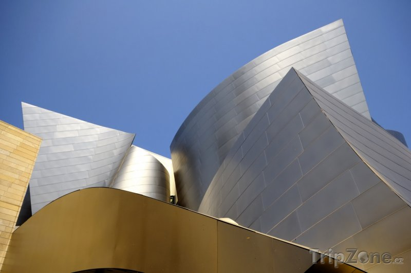 Fotka, Foto Detail budovy Walt Disney Concert Hall v Los Angeles (Los Angeles, USA)