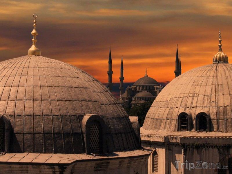 Fotka, Foto Detail Modré mešity (Istanbul, Turecko)
