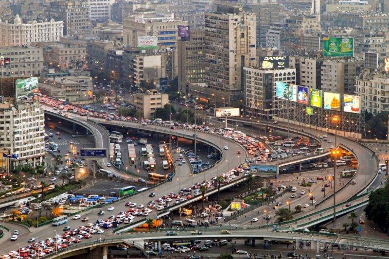 Fotka, Foto Dopravní kolaps v centru města (Káhira, Egypt)