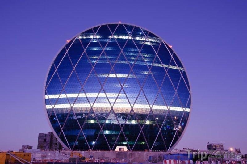 Fotka, Foto Futuristická administrativní budova (Abú Dhabí, Spojené arabské emiráty)