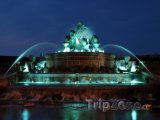 Gefionova fontána v noci