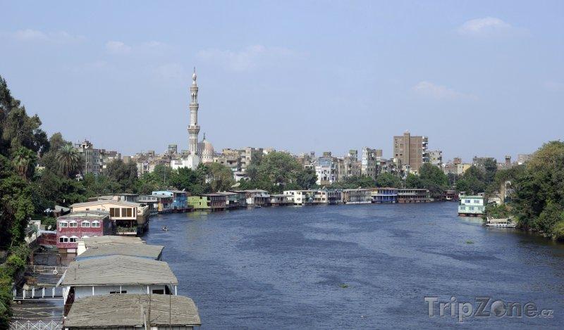 Fotka, Foto Hausboty na břehu Nilu (Káhira, Egypt)