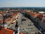 Hradec Králové, pohled z Bílé věže na Velké náměstí