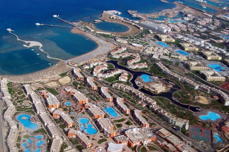 Fotka, Foto Hurghada z ptačí perspektivy (Východní pobřeží, Egypt)
