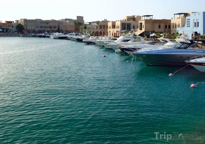 Fotka, Foto Jachty kotvící v rezortu El Gouna (Východní pobřeží, Egypt)