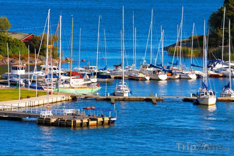 Fotka, Foto Jachty v přístavu (Helsinky, Finsko)