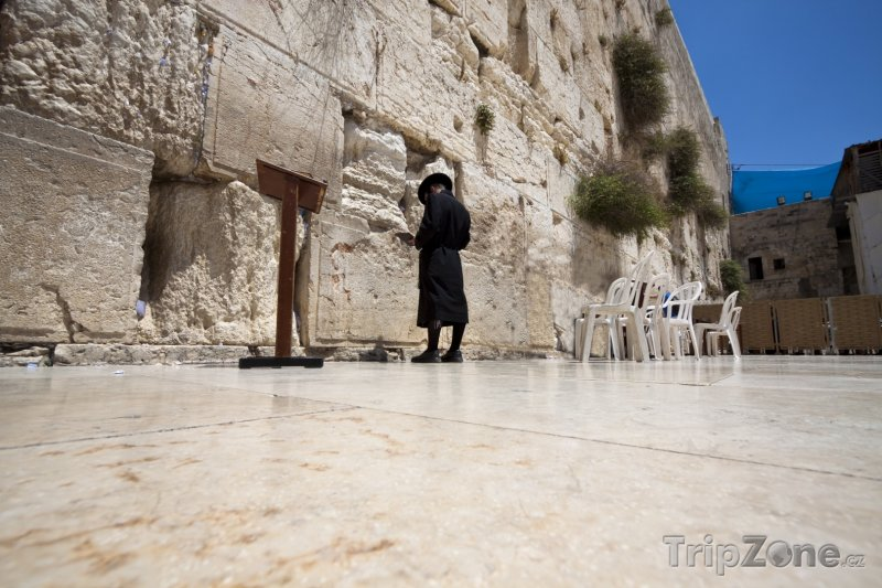 Fotka, Foto Jeruzalém - modlitba před Zdí nářků (Izrael)