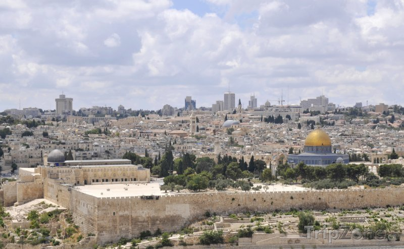 Fotka, Foto Jeruzalém - pohled na Staré město (Izrael)