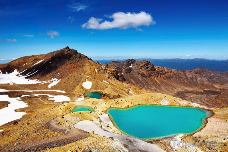 Fotka, Foto Jezera v Národním parku Tongariro (Nový Zéland)