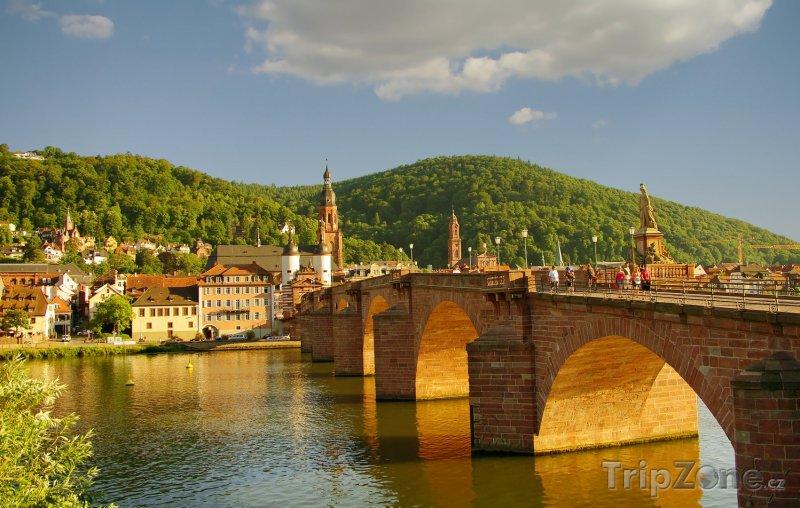 Fotka, Foto Kamenný most v Heidelbergu (Bádensko-Württembersko, Německo)