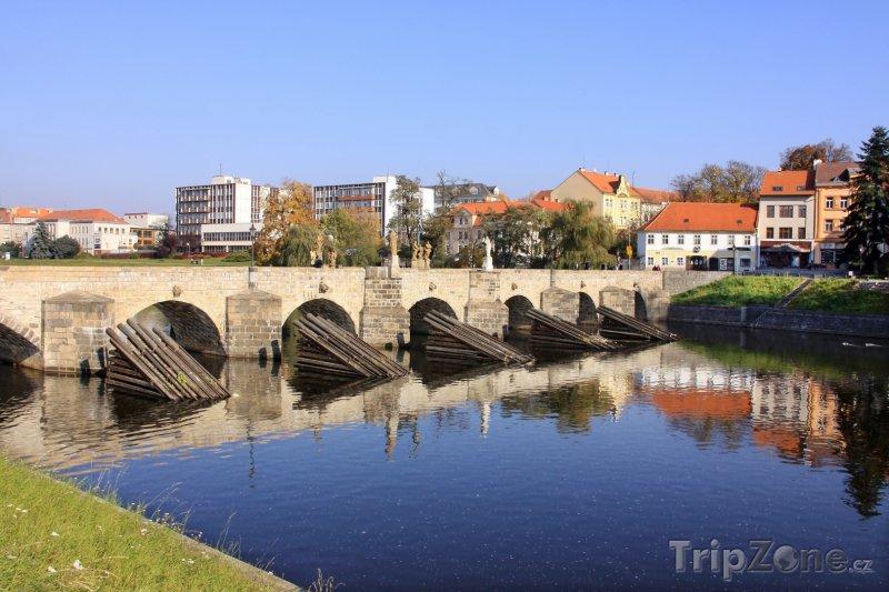 Fotka, Foto Kamenný most v Písku, nejstarší dochovaný most v ČR (Česká republika)