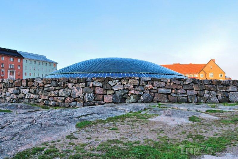 Fotka, Foto Kopule skalního kostela Temppeliaukio (Helsinky, Finsko)