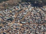 Letecký pohled na městskou část Soweto